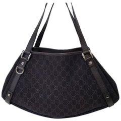 Gucci Black GG Black Guccissima Hand Bag