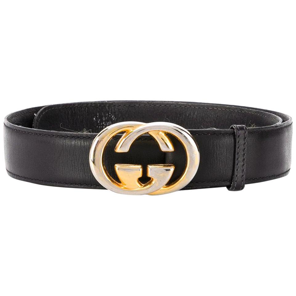 Gucci Black GG Buckle Belt