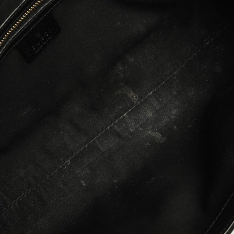 Gucci Black GG Canvas and Leather Bardot Bag For Sale 6