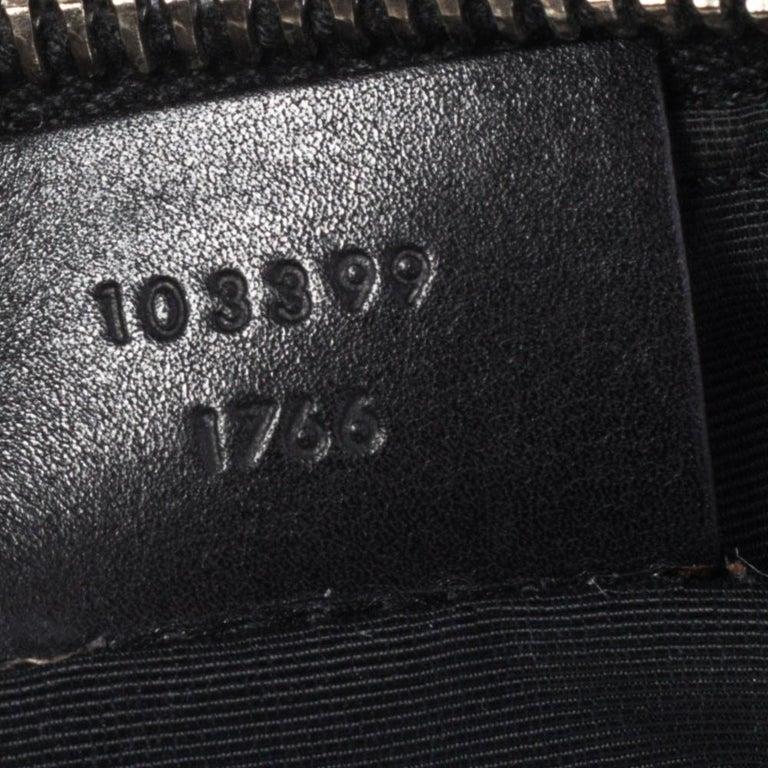 Gucci Black GG Canvas and Leather Pochette 7