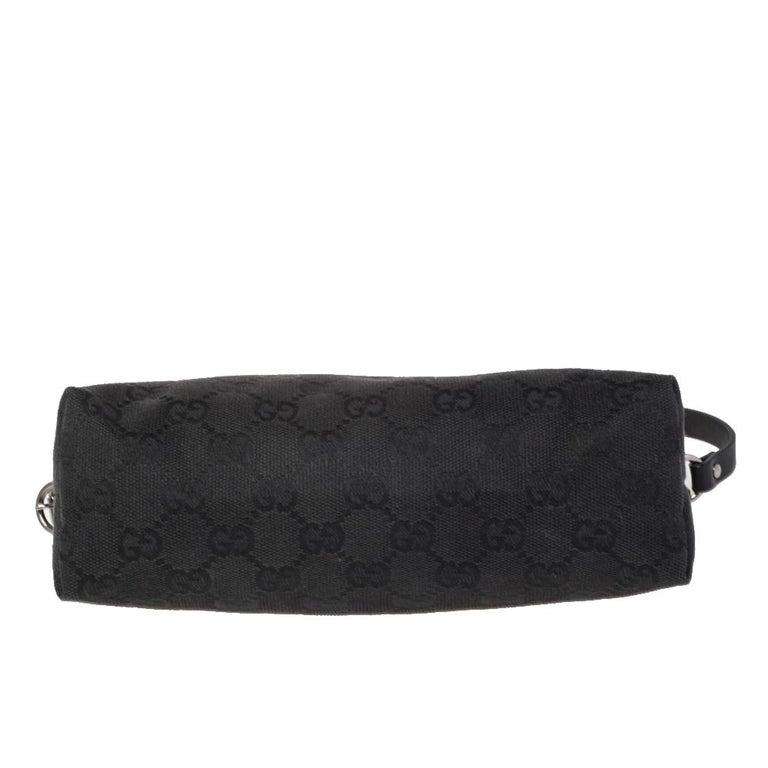 Gucci Black GG Canvas and Leather Pochette 2