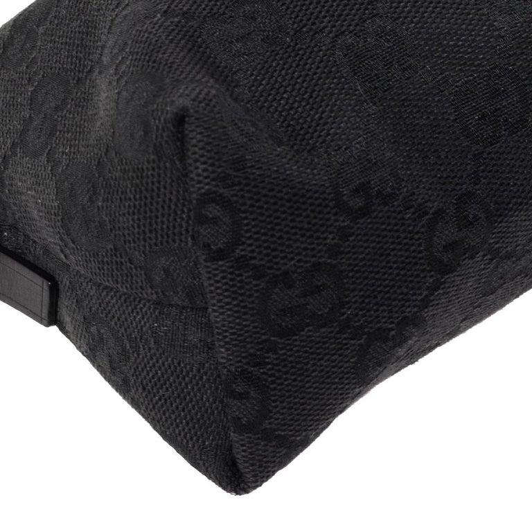 Gucci Black GG Canvas and Leather Pochette 3
