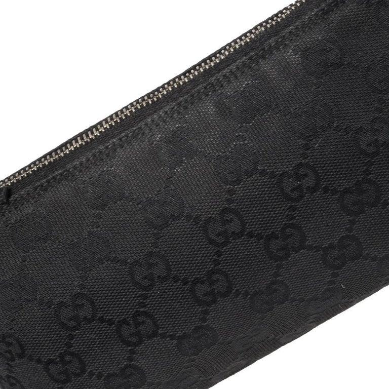 Gucci Black GG Canvas and Leather Pochette 5