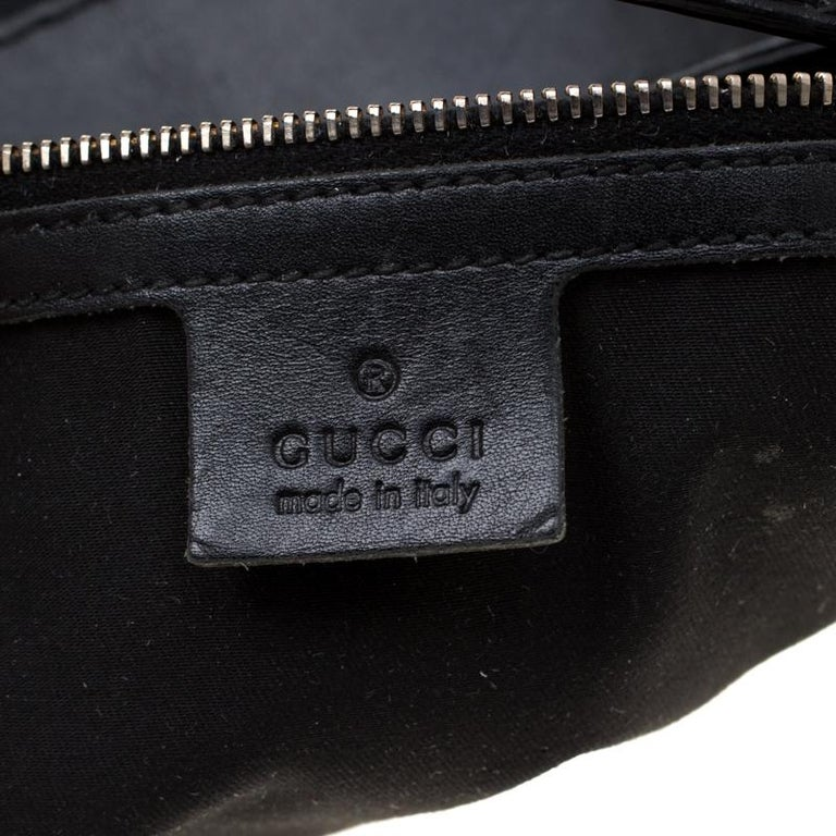 Gucci Black GG Canvas and Leather Queen Hobo For Sale 1