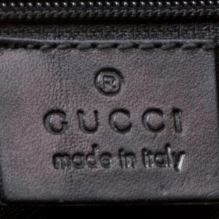 Gucci Black GG Canvas and Leather Small Jackie Hobo For Sale 1