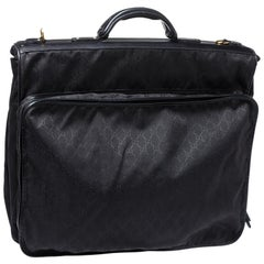 Gucci Black GG Canvas Large Garment Hanger Bag