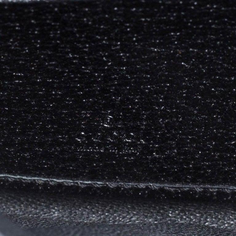 Gucci Black GG Canvas Web Stripe Clutch For Sale 8