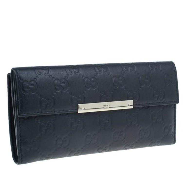 d1fb7065423b Gucci Black GG Guccissima Leather Continental Wallet In Good Condition For  Sale In Dubai, AE