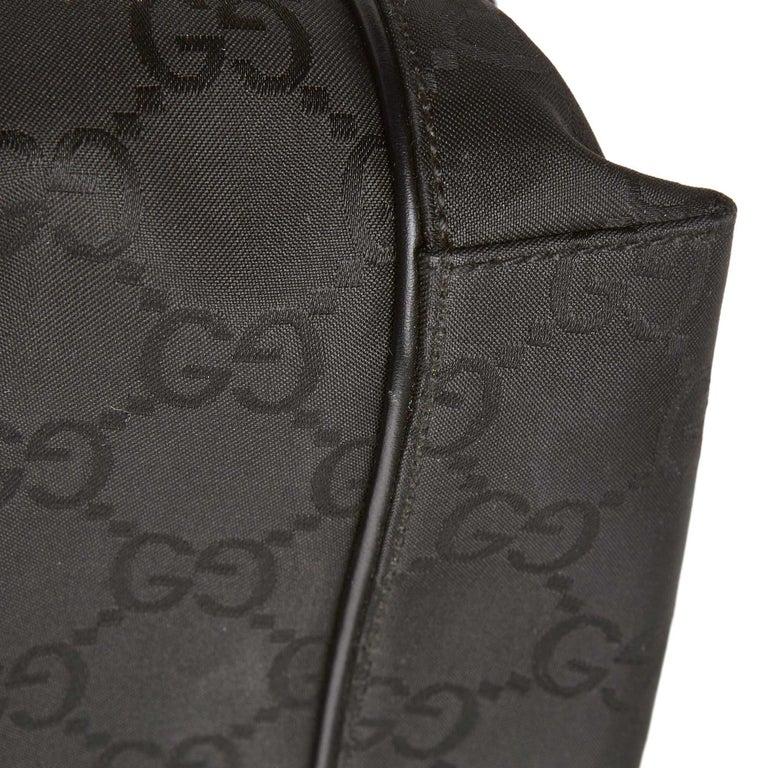 Gucci Black GG Jacquard Handbag For Sale 6
