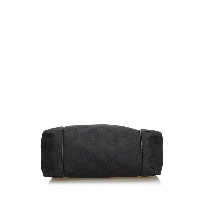 Women's Gucci Black GG Jacquard Handbag For Sale