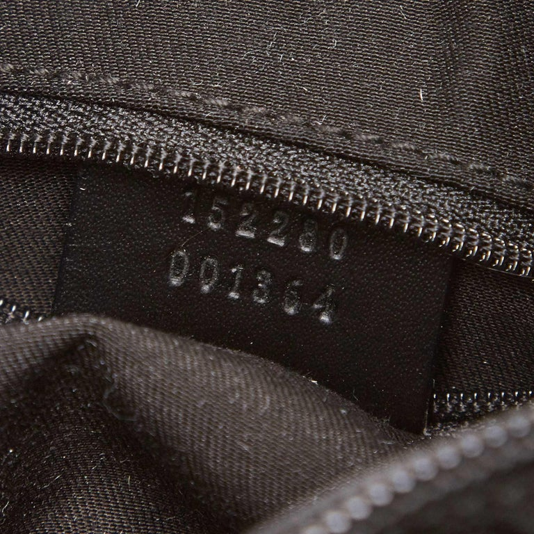 Gucci Black GG Jacquard Handbag For Sale 3