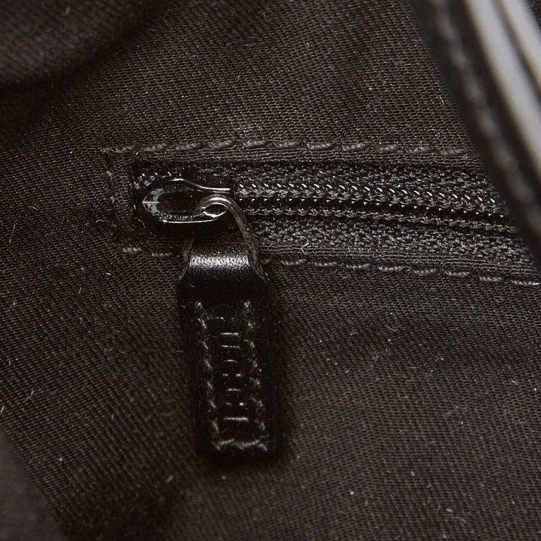 Gucci Black GG Jacquard Handbag For Sale 4