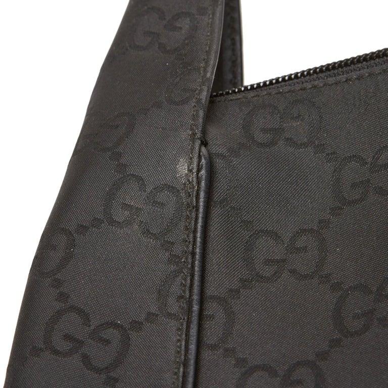 Gucci Black GG Jacquard Handbag For Sale 5