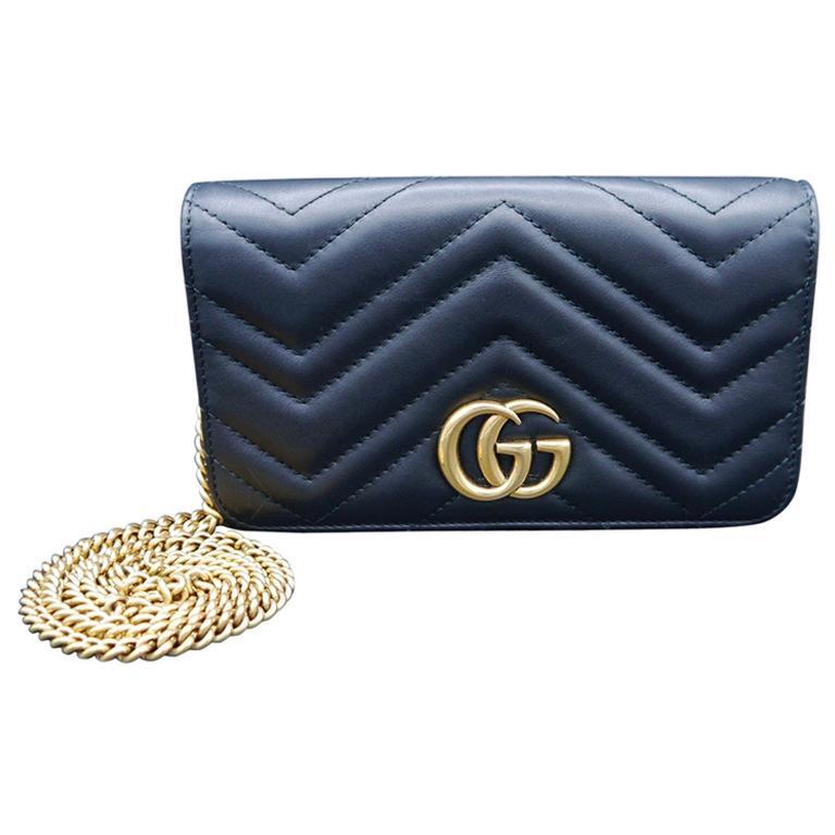 Gucci Black GG Marmont Matelasse Leather Mini Bag