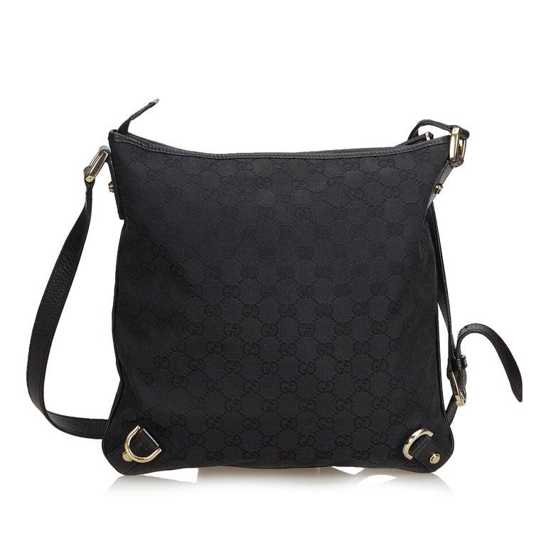 ec259981df5 Gucci Black Guccissima Abbey Crossbody Bag In Good Condition For Sale In  Orlando