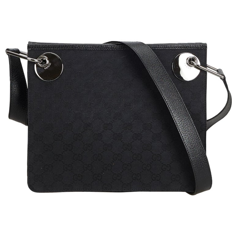 167b0f4e656 Gucci Black Guccissima Canvas Eclipse Crossbody Bag at 1stdibs