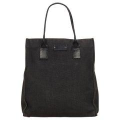 Gucci Black Guccissima Canvas Tote Bag