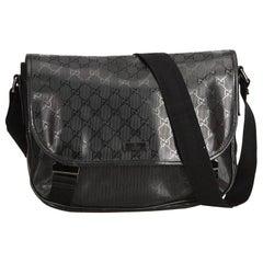 Gucci Black Guccissima Imprime Messenger Bag
