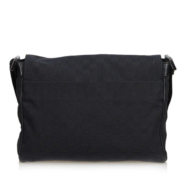fbc73b7da0d Gucci Black Guccissima Jacquard Crossbody Bag In Good Condition For Sale In  Orlando