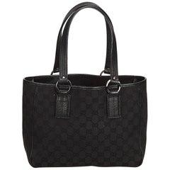Gucci Black Guccissima Jacquard Tote Bag