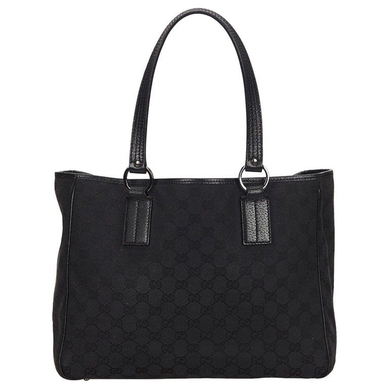 3597adf2633c0 Gucci Black Guccissima Jacquard Tote at 1stdibs