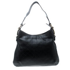 Gucci Black Guccissima Leather Creole Hobo