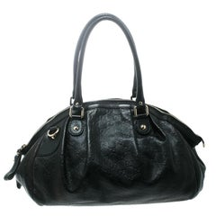 e2180fcd7459 Gucci Black Guccissima Leather Medium Sukey Boston Bag