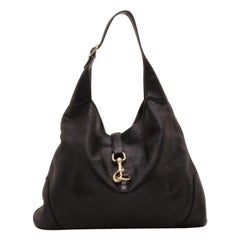 Gucci Black Guccissima Leather New Jackie Hobo