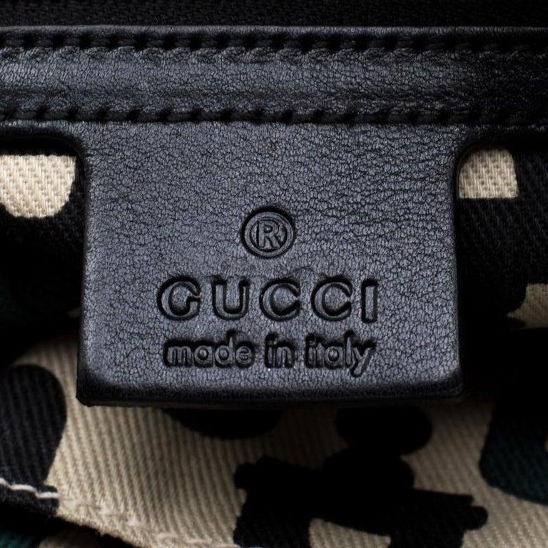 Gucci Black Guccissima Leather Small Hysteria Satchel For Sale 6