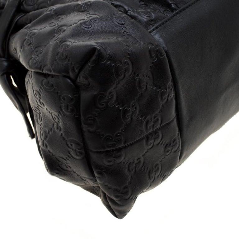 Gucci Black Guccissima Leather Small Hysteria Satchel For Sale 2