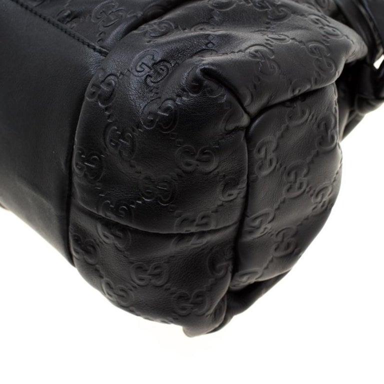 Gucci Black Guccissima Leather Small Hysteria Satchel For Sale 3