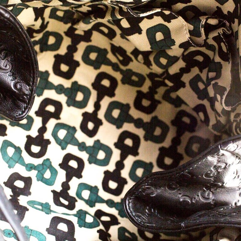 Gucci Black Guccissima Leather Small Hysteria Satchel For Sale 5