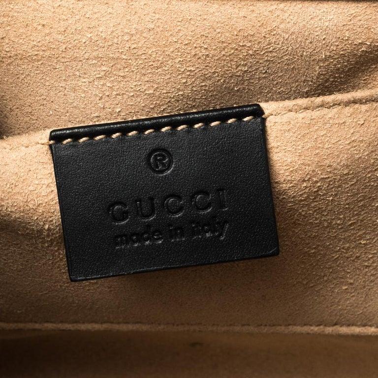 Gucci Black Guccissima Leather Small Padlock Shoulder Bag 7