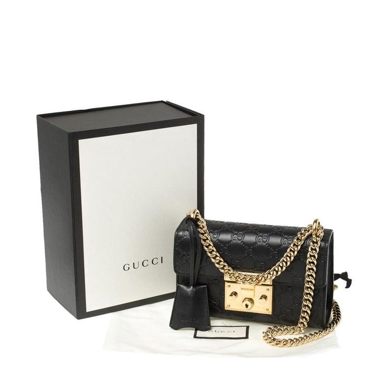 Gucci Black Guccissima Leather Small Padlock Shoulder Bag 8