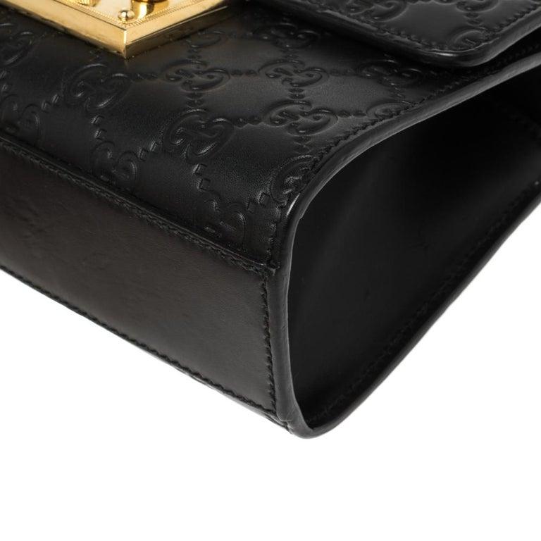 Gucci Black Guccissima Leather Small Padlock Shoulder Bag 2