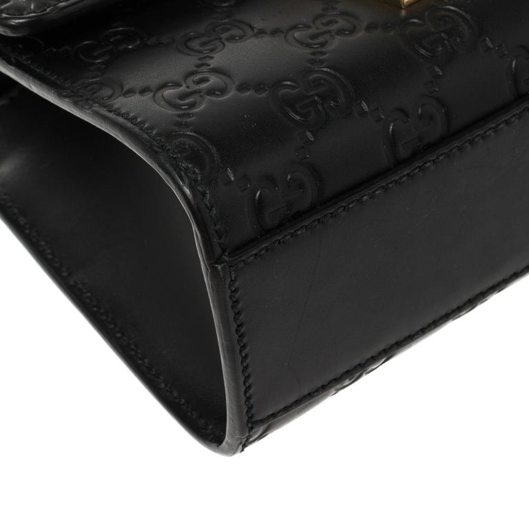 Gucci Black Guccissima Leather Small Padlock Shoulder Bag 3