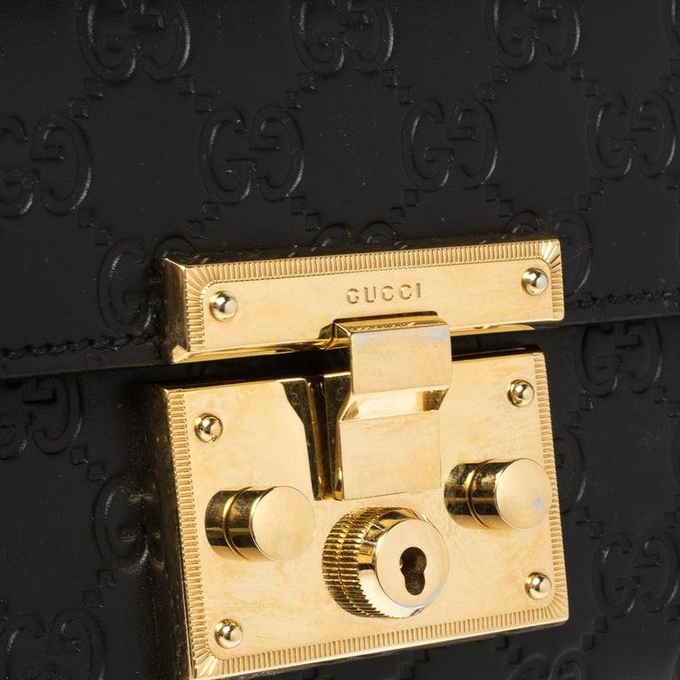 Gucci Black Guccissima Leather Small Padlock Shoulder Bag 4