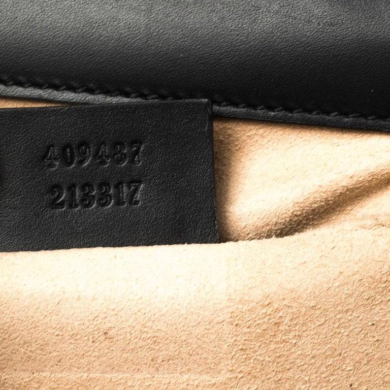 Gucci Black Guccissima Leather Small Padlock Shoulder Bag 5