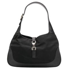 Gucci Black Jackie-O Monogram Shoulder Bag
