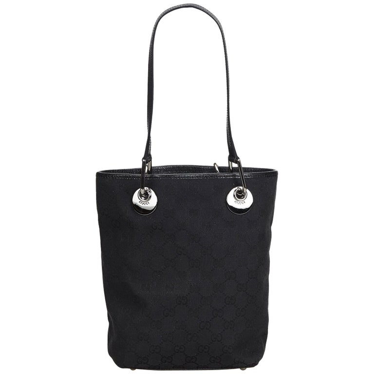 4e6978425692 Gucci Black Jacquard Fabric GG Eclipse Tote Bag Italy w/ Dust Bag For Sale