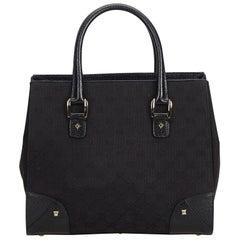 8693f669e324 Gucci Black Jacquard Fabric GG Tote Bag Italy