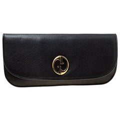 Gucci Black Leather 1973 Clutch