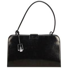 Gucci Black Leather Baguette