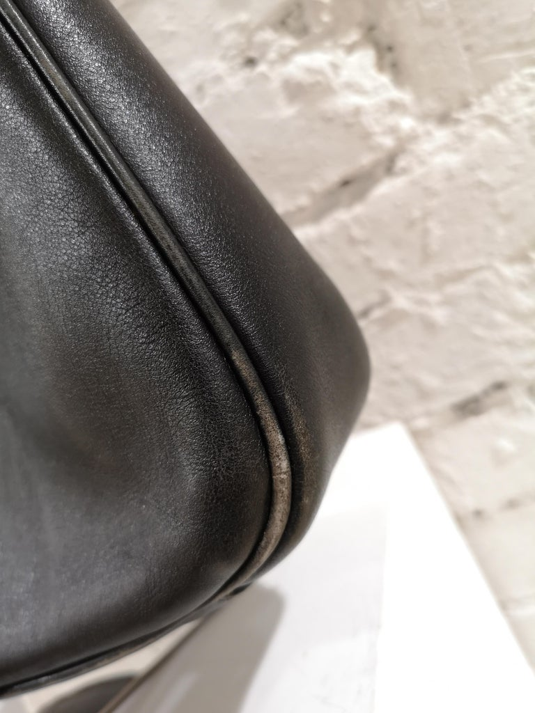 Gucci Black Leather Bamboo bag For Sale 7