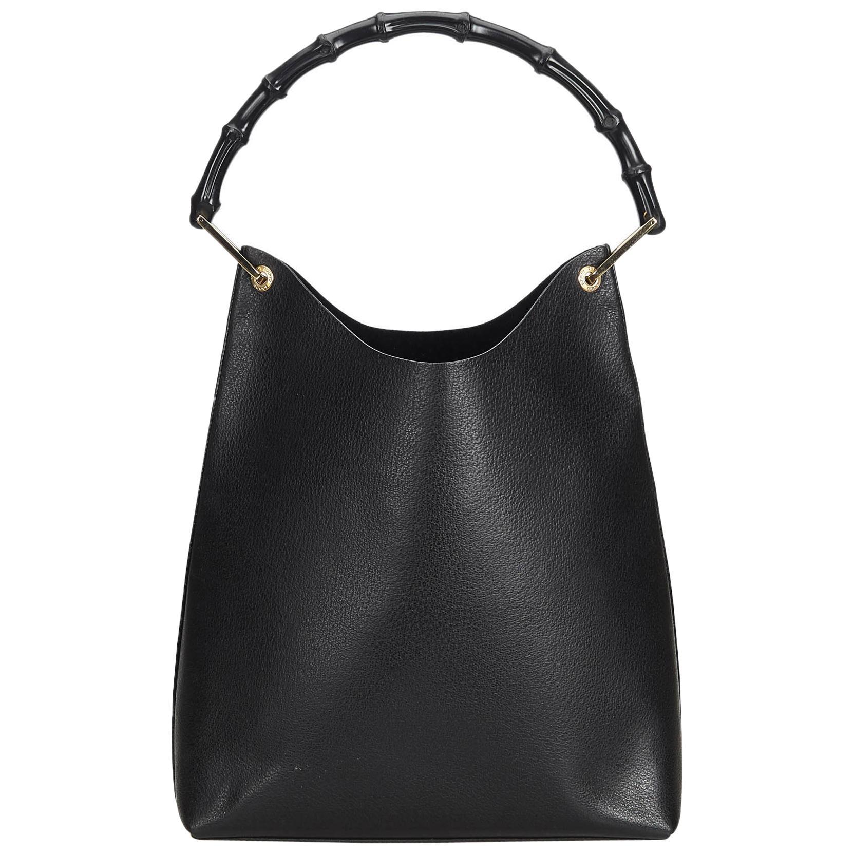 3ccb36f86c77 GUCCI 268639 GG Guccissima Canvas Abbey Pocket Black Tote Bag .