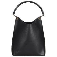 edfa9346fd7 Gucci Black Leather Bamboo Hobo Bag Italy w  Dust BagPouch