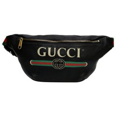 Gucci Black Leather Belt Bag