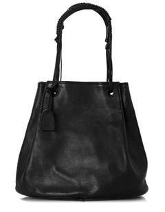 Gucci Black Leather Bucket Bag with DB