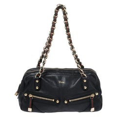 Gucci Black Leather Capri Bowler Bag