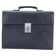 Gucci Black Leather Code Lock Briefcase